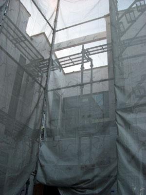 外壁防水シート施工